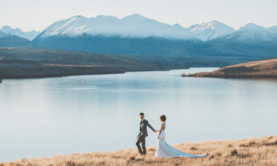 Our New Zealand Lake Tekapo Pre Wedding Will Take You To The Best Locations In Amongst Most Surreal Scenery Of Turquoise Blue Lakes